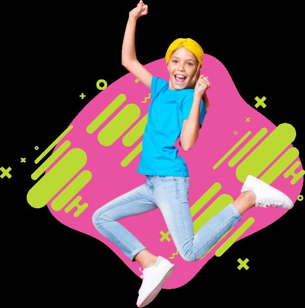 jumping girl
